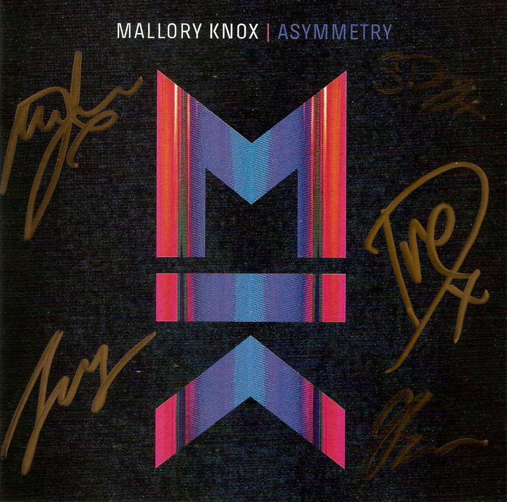 MALLORY KNOX Asymmetry CD Album Sony 2014 Signed